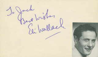 ELI WALLACH - AUTOGRAPH NOTE SIGNED