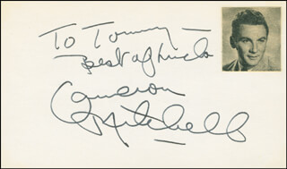 CAMERON MITCHELL - AUTOGRAPH NOTE SIGNED