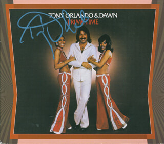TONY ORLANDO - COMPACT DISC CASE SIGNED
