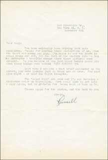 RUSSELL HARDIE - TYPED LETTER SIGNED