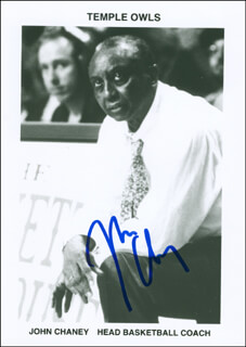 Autographs: JOHN CHANEY - PHOTOGRAPH SIGNED
