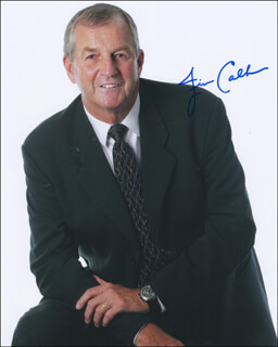 Autographs: JIM CALHOUN - PHOTOGRAPH SIGNED