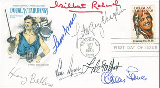GILBERT ROLAND - FIRST DAY COVER SIGNED CO-SIGNED BY: CHARLES (CHARLES LEVISON) LANE, LITA GREY CHAPLIN, LEW AYRES, LYLE TALBOT, LEON AMES, HARRY BELLAVER