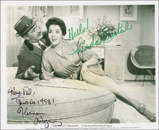THE PERFECT FURLOUGH MOVIE CAST - AUTOGRAPHED SIGNED PHOTOGRAPH CO-SIGNED BY: KEENAN WYNN, LINDA CRISTAL