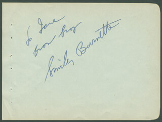SMILEY (LESTER) BURNETTE - AUTOGRAPH NOTE SIGNED  - HFSID 294198
