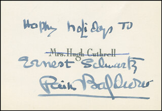 FAITH BALDWIN - AUTOGRAPH NOTE SIGNED