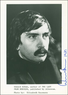 Autographs: EDWARD ALBEE - PHOTOGRAPH SIGNED CIRCA 1981