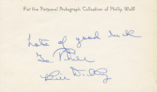 BILL DICKEY - AUTOGRAPH NOTE SIGNED