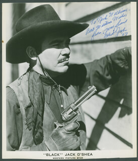 JACK BLACK JACK O'SHEA - AUTOGRAPHED INSCRIBED PHOTOGRAPH 1967