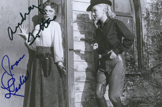 WOMAN THEY ALMOST LYNCHED MOVIE CAST - AUTOGRAPHED SIGNED PHOTOGRAPH CO-SIGNED BY: JOAN LESLIE, AUDREY TOTTER