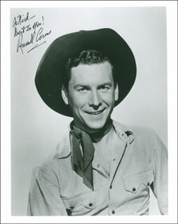 RUSSELL ARMS - AUTOGRAPHED INSCRIBED PHOTOGRAPH