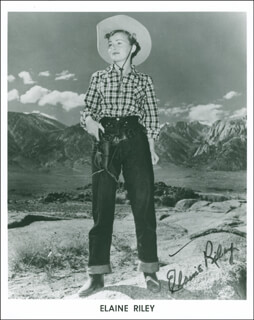 ELAINE RILEY - AUTOGRAPHED SIGNED PHOTOGRAPH