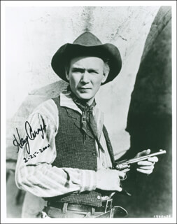 HARRY CAREY JR. - AUTOGRAPHED SIGNED PHOTOGRAPH 02/25/2000