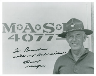 HARRY MORGAN - AUTOGRAPHED INSCRIBED PHOTOGRAPH