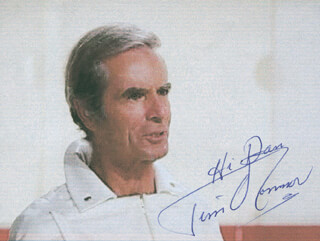 TIM O'CONNOR - INSCRIBED PRINTED PHOTOGRAPH SIGNED IN INK