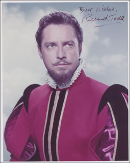 RICHARD TODD - AUTOGRAPHED SIGNED PHOTOGRAPH