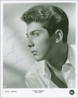 Autographs: PAUL ANKA - INSCRIBED PHOTOGRAPH SIGNED