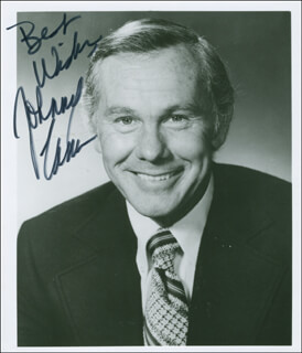 JOHNNY CARSON - AUTOGRAPHED SIGNED PHOTOGRAPH