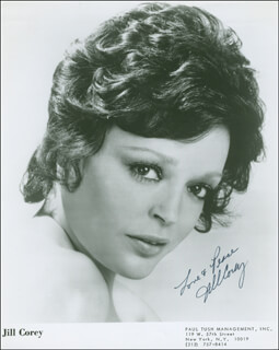 JILL COREY - AUTOGRAPHED SIGNED PHOTOGRAPH