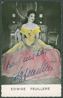 EDWIGE FEUILLERE - AUTOGRAPHED SIGNED PHOTOGRAPH