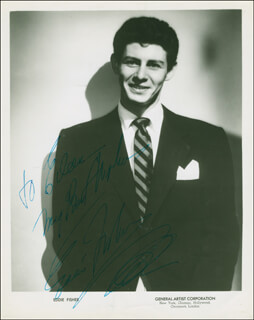 EDDIE FISHER - AUTOGRAPHED INSCRIBED PHOTOGRAPH