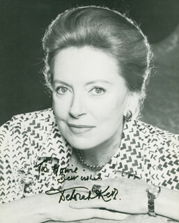 DEBORAH KERR - AUTOGRAPHED INSCRIBED PHOTOGRAPH