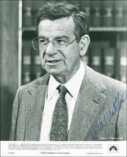 WALTER MATTHAU - PRINTED PHOTOGRAPH SIGNED IN INK