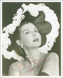 ANN MILLER - AUTOGRAPHED INSCRIBED PHOTOGRAPH