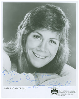 LANA CANTRELL - AUTOGRAPHED INSCRIBED PHOTOGRAPH