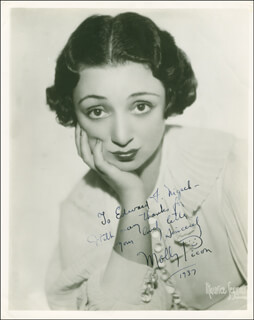 MOLLY PICON - AUTOGRAPHED INSCRIBED PHOTOGRAPH 1937