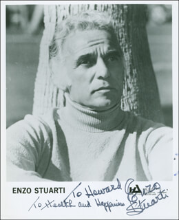 ENZO STUARTI - AUTOGRAPHED INSCRIBED PHOTOGRAPH