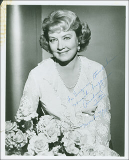 AUDREY TOTTER - AUTOGRAPHED INSCRIBED PHOTOGRAPH 11/07/1975