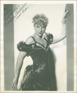BARBARA BARONDESS - AUTOGRAPHED INSCRIBED PHOTOGRAPH