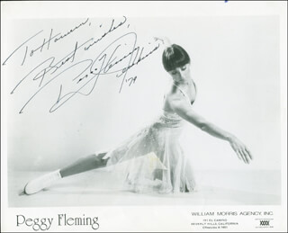 PEGGY FLEMING - AUTOGRAPHED INSCRIBED PHOTOGRAPH 1979