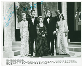 CLIFF ROBERTSON - AUTOGRAPHED SIGNED PHOTOGRAPH CO-SIGNED BY: JOAN FONTAINE