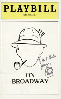 BING CROSBY - INSCRIBED SHOW BILL SIGNED