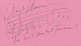 CHARLES STROUSE - MUSICAL QUOTATION SIGNED