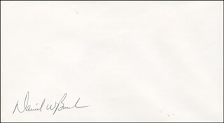 CAPTAIN DANIEL W. BURSCH - ENVELOPE SIGNED