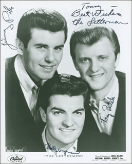 THE LETTERMEN - AUTOGRAPHED INSCRIBED PHOTOGRAPH CO-SIGNED BY: THE LETTERMEN (JIM PIKE), THE LETTERMEN (TONY BUTALA), THE LETTERMAN (BOB ENGEMANN)