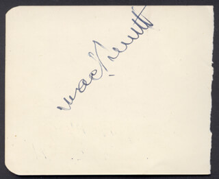 MACK THE KING OF COMEDY SENNETT - AUTOGRAPH CO-SIGNED BY: STEVE DONOGHUE