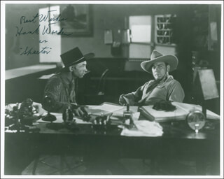 HANK WORDEN - AUTOGRAPHED SIGNED PHOTOGRAPH