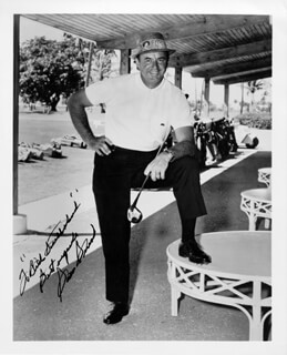 SAM SLAMMING SAMMY SNEAD - AUTOGRAPHED INSCRIBED PHOTOGRAPH