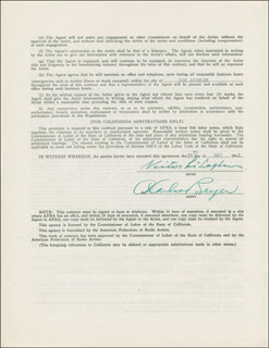 VICTOR McLAGLEN - CONTRACT SIGNED 05/29/1942 CO-SIGNED BY: CHARLES BEYER - HFSID 294551