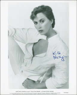 KATE NELLIGAN - AUTOGRAPHED SIGNED PHOTOGRAPH
