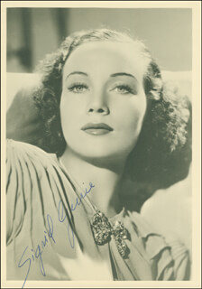 SIGRID GURIE - AUTOGRAPHED SIGNED PHOTOGRAPH