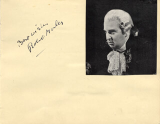 ROBERT MORLEY - AUTOGRAPH SENTIMENT SIGNED