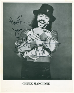 CHUCK MANGIONE - AUTOGRAPHED SIGNED PHOTOGRAPH 1978
