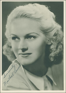 MARTHA O'DRISCOLL - AUTOGRAPHED SIGNED PHOTOGRAPH