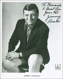 JIMMY ROSELLI - AUTOGRAPHED INSCRIBED PHOTOGRAPH
