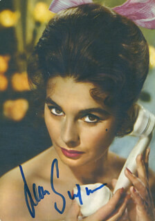 JEAN SIMMONS - PICTURE POST CARD SIGNED